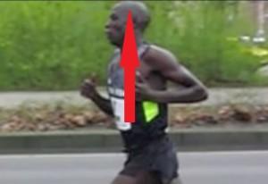 proper running head posture